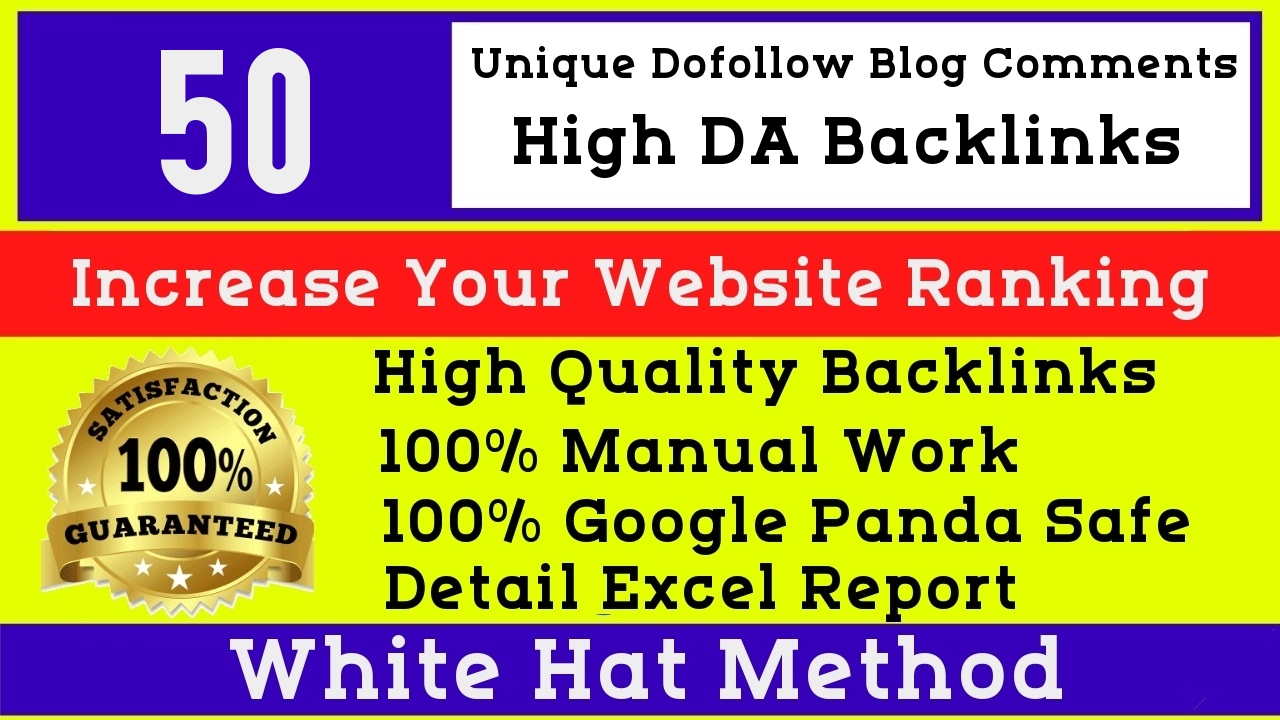 I will Manually do 50 high quality dofollow High DA blog comments