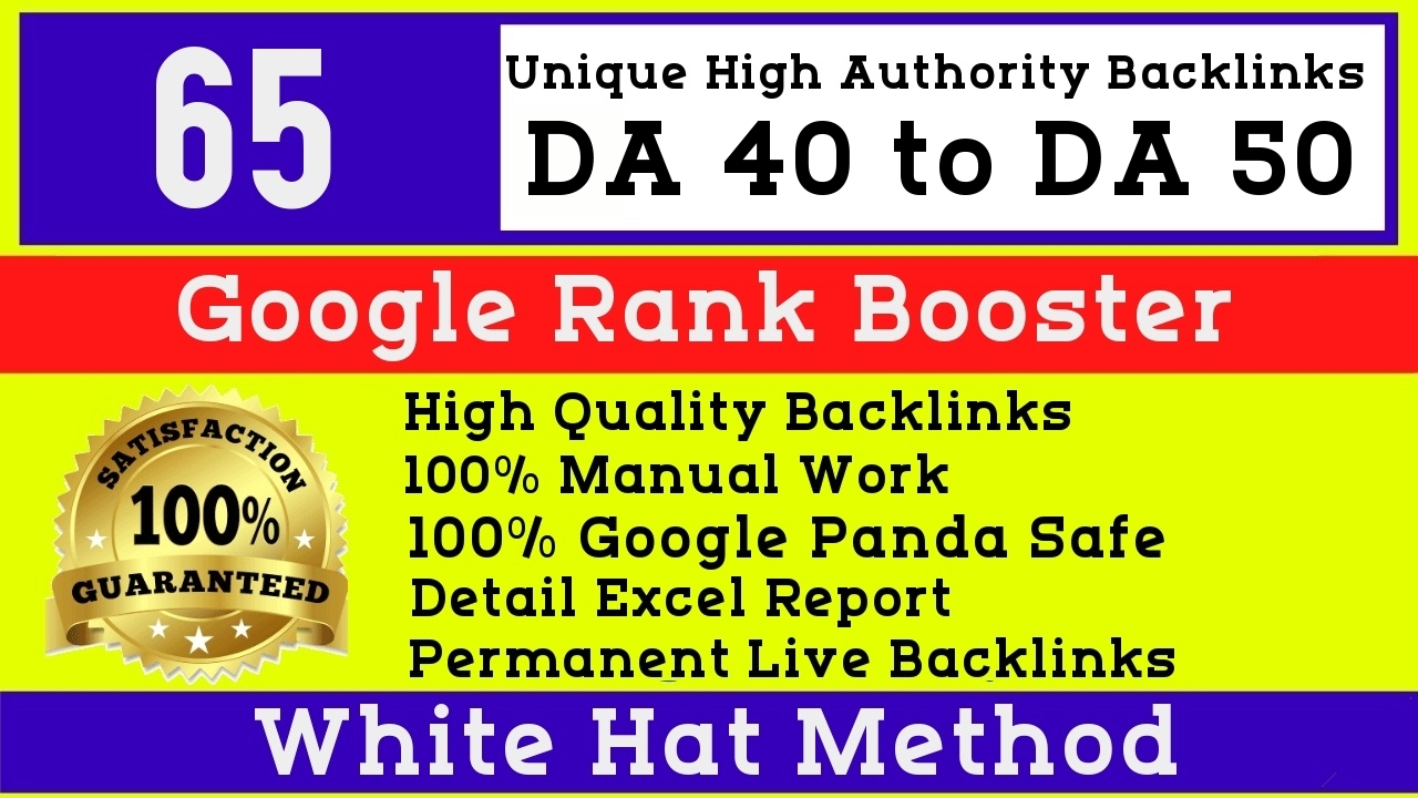 I will do 65 manual high authority seo White hat profile backlinks