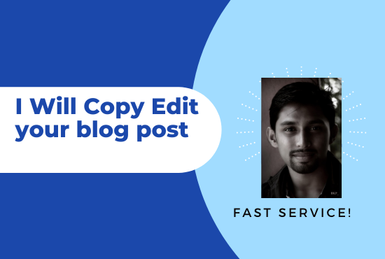 I will copy edit your 3000 words blog post