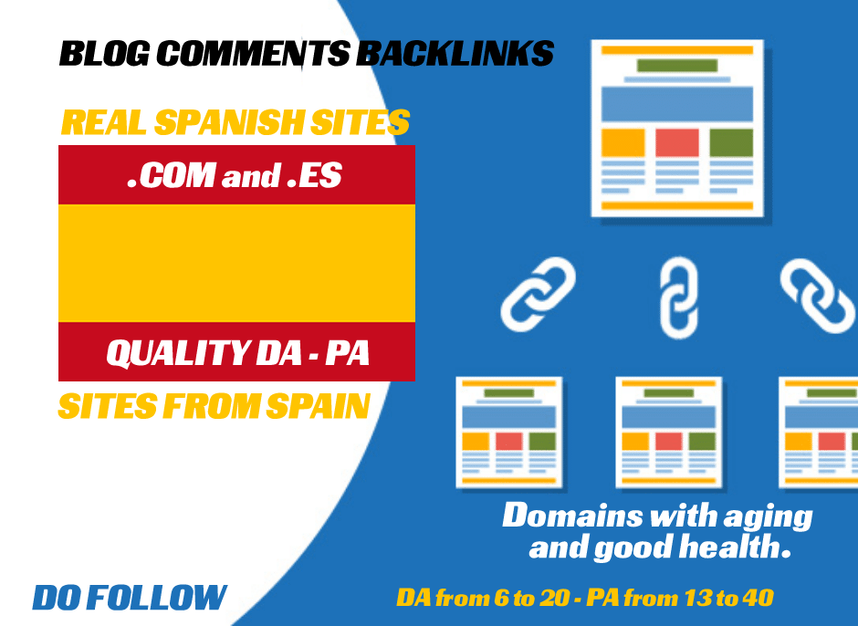 Provide 10 Real Quality DA PA Spanish Sites blog comments dofollow SEO backlinks manually