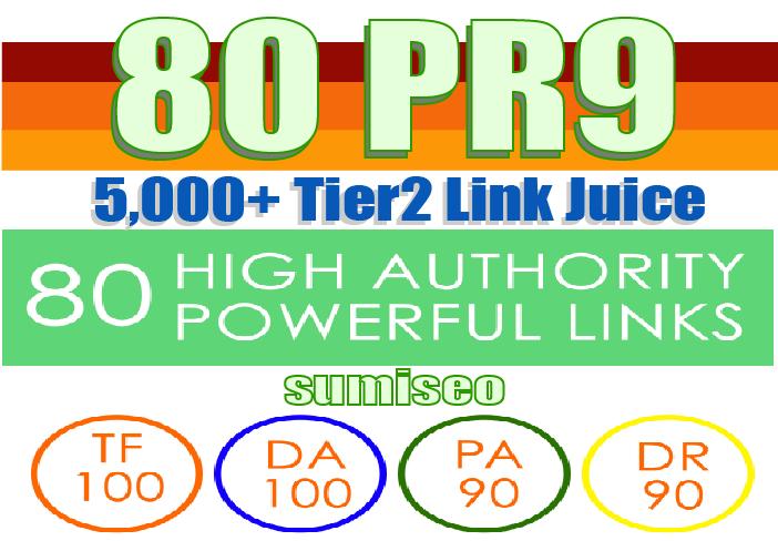 Create 80 PR9 Backlinks (DA-100) with 5000 Tier2 Links Easy Link Juice & Faster Index
