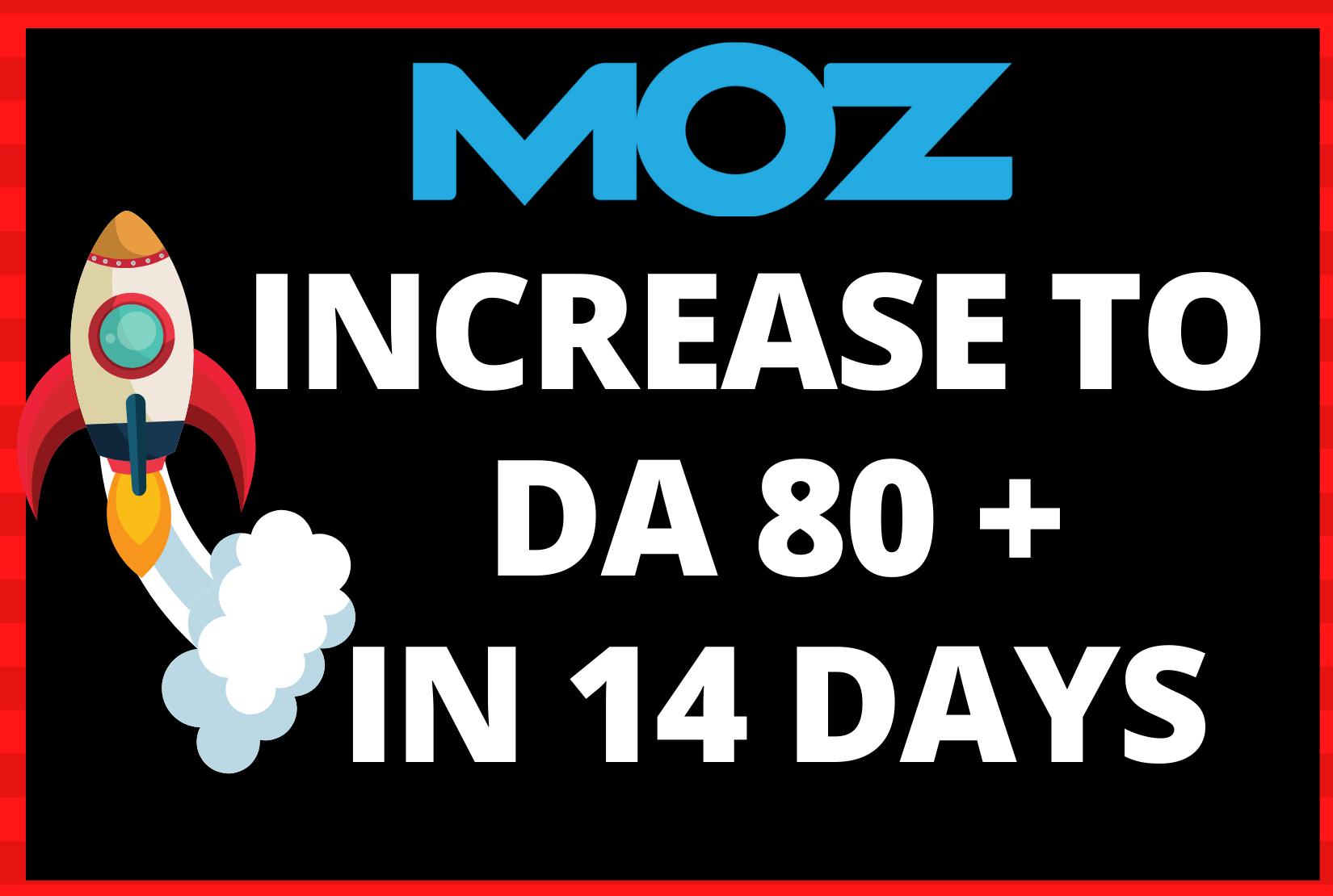 Skyrocket DA 80+ - Moz Domain Authority Boost