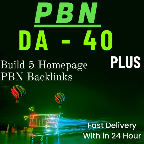 Build 5 Homepage PBN DA40+ Backlinks