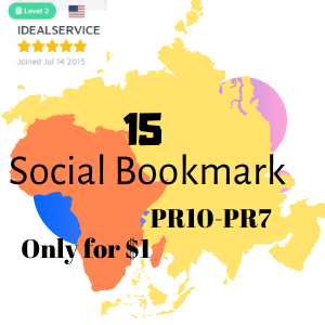 I will provide 15 High Quality Bookmarking PR10-PR7