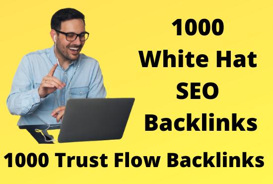 1K High Authority Dofollow White Hat SEO Backlinks