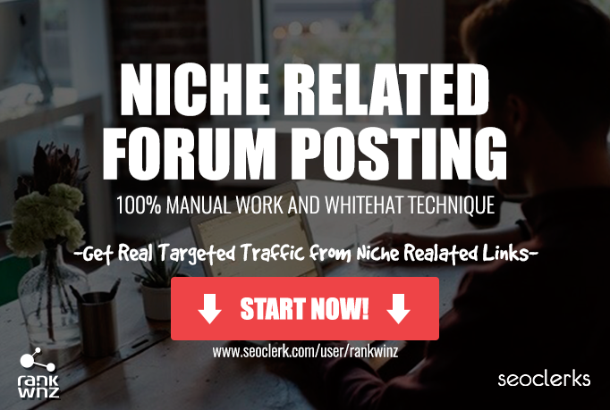 CROWD LINKS - Niche Related Forum Comments with High Metrics,  MANUAL WORK
