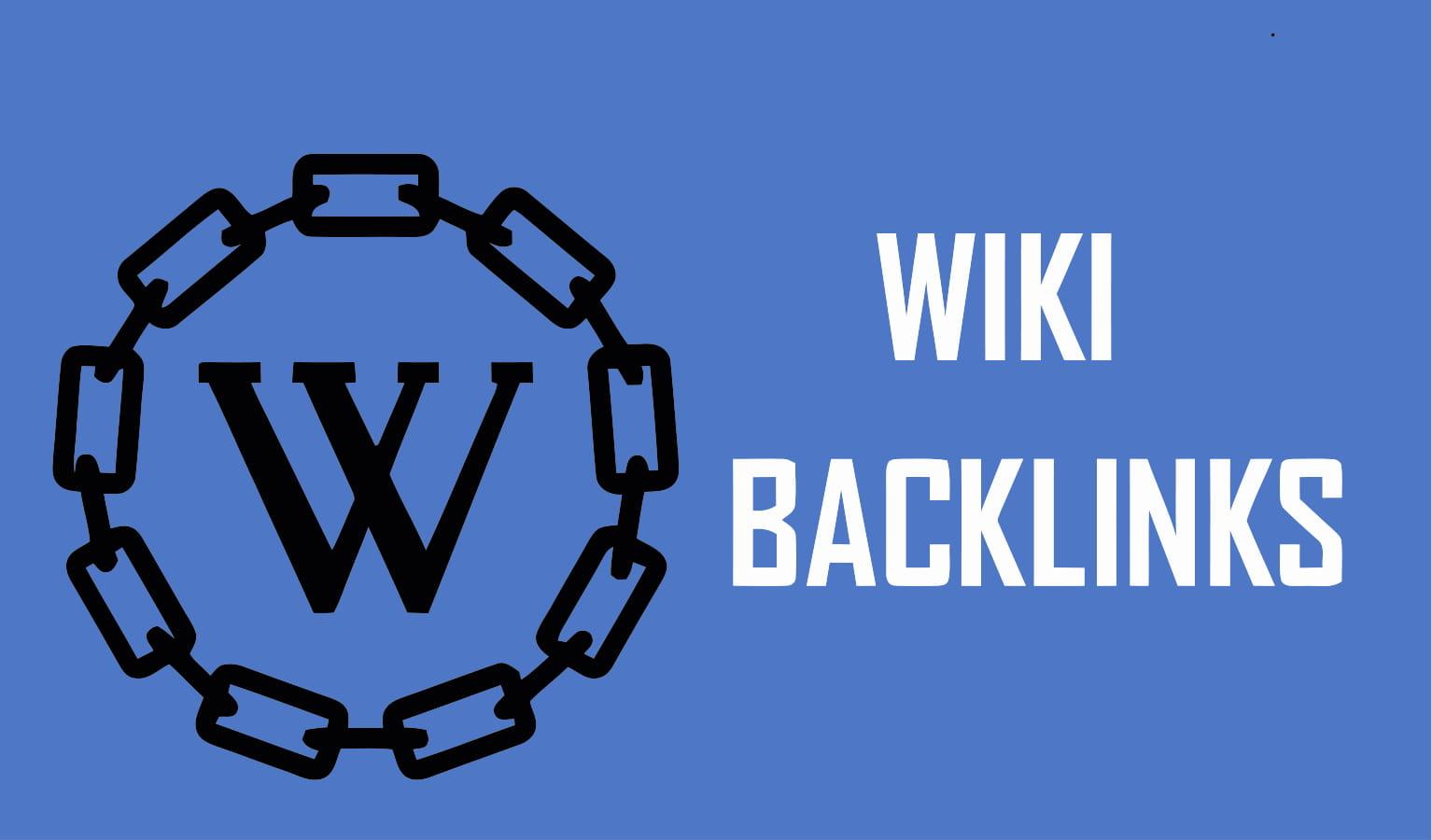 Provide 50 High quality wiki backlinks
