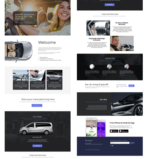I will create quick quality landing page design