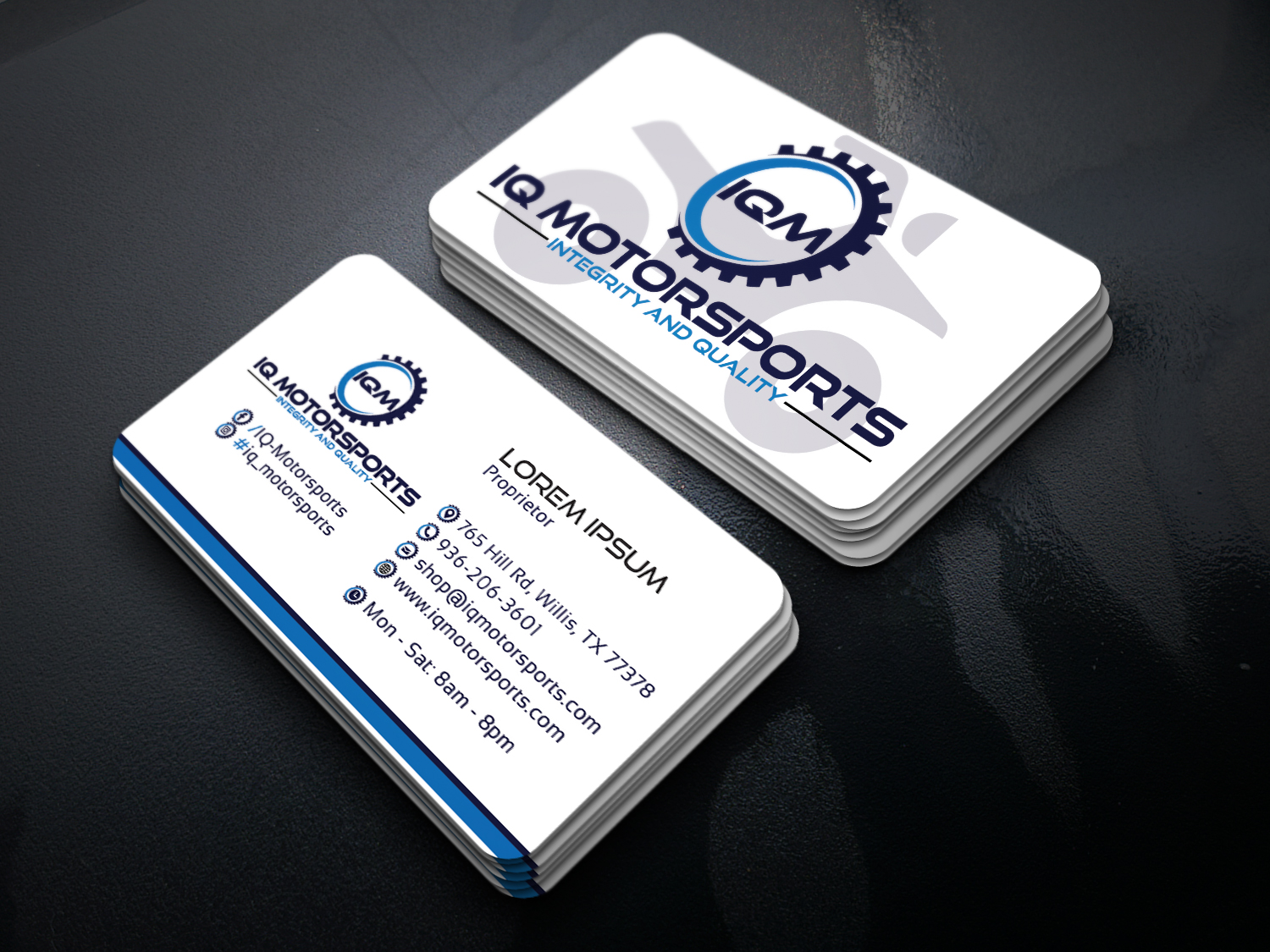 Design a clean and modern Business Card