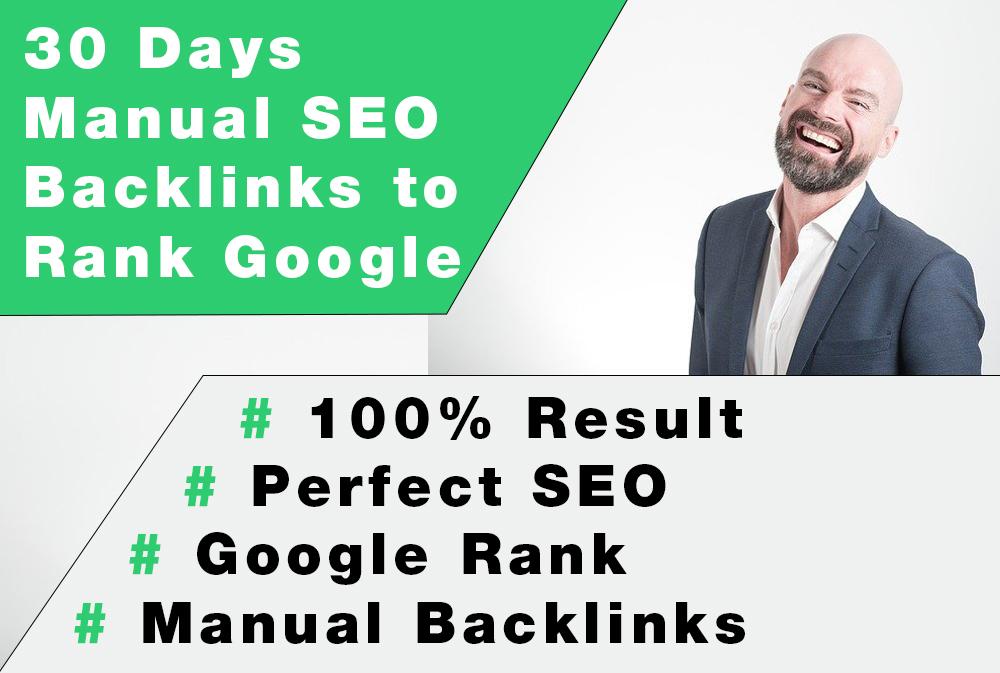 30 Days Manual SEO Backlinks to Rank Google