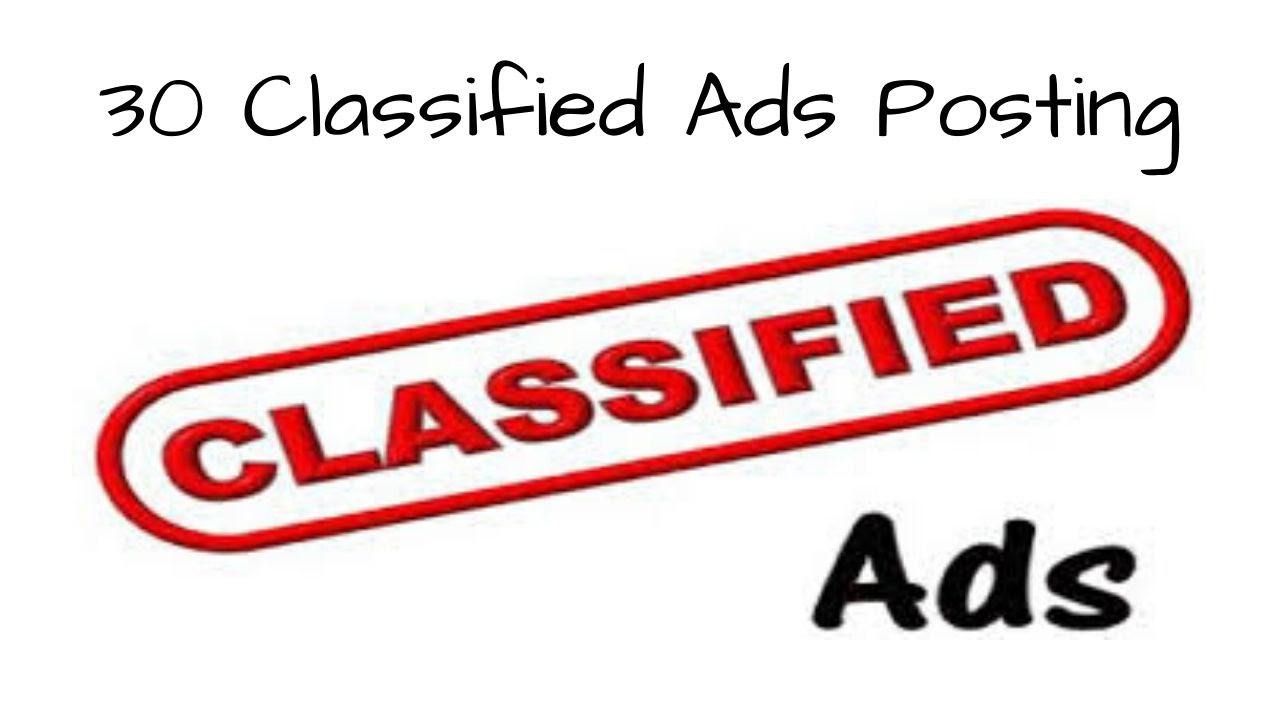 Publish Manually 30 Classified Ads Posting for Build Strong SEO Backlinks