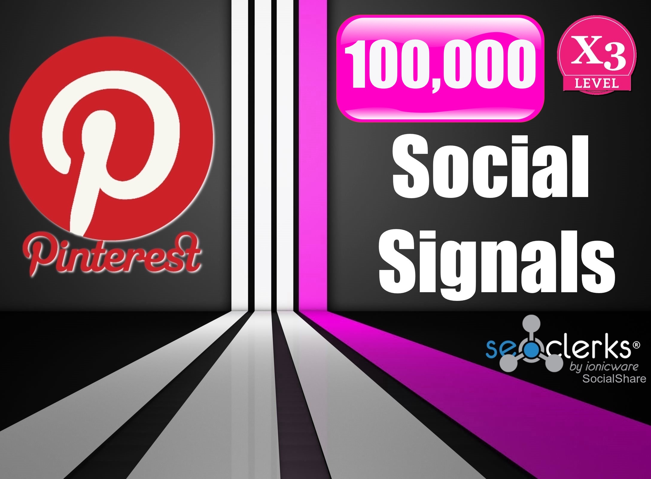 100,000 Strongest PR10 USA Permanent Pinterest Social Signals For Promotion Help To Increase SEO