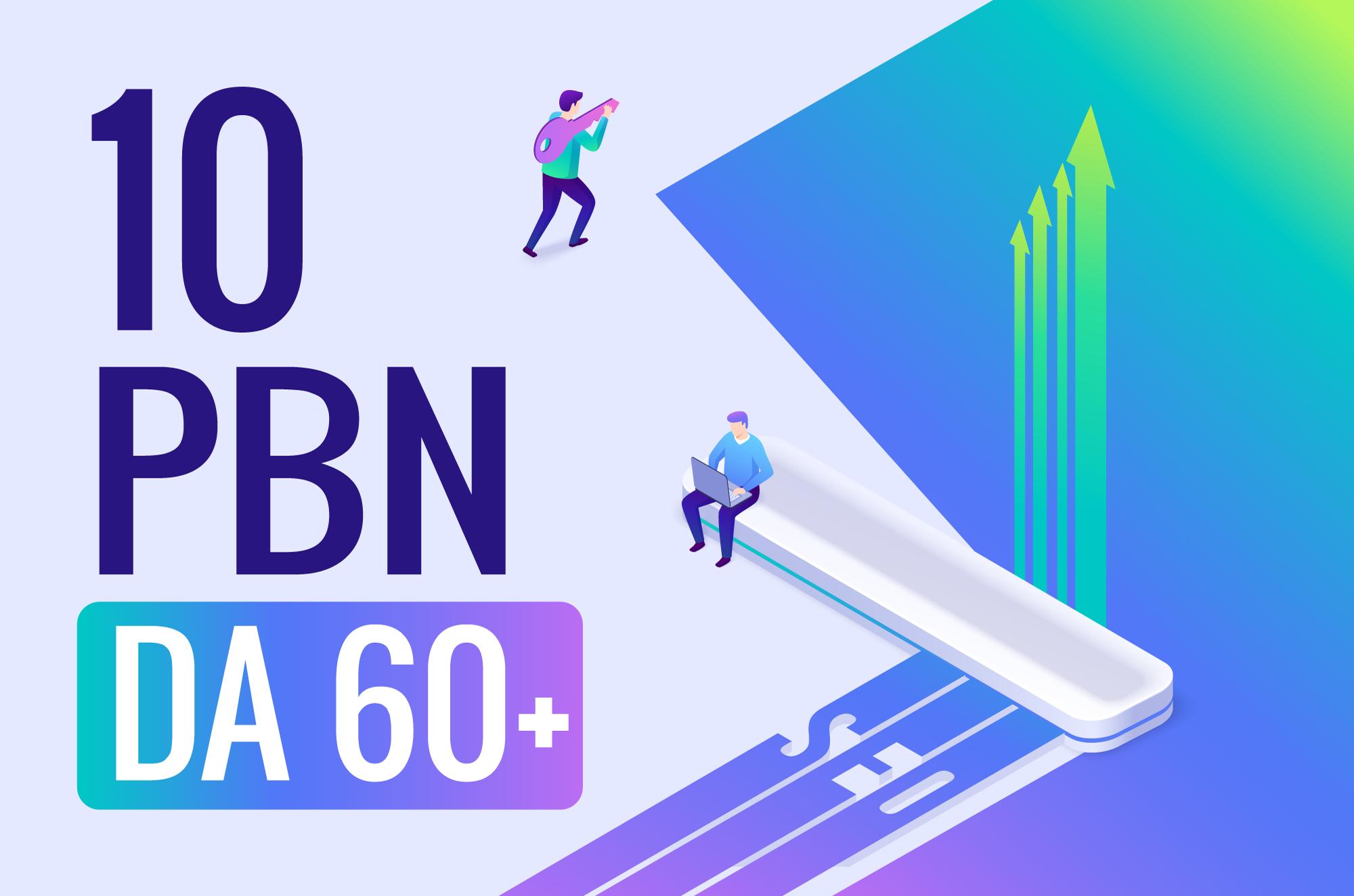 10 PBN backlinks with DA 60+ manually