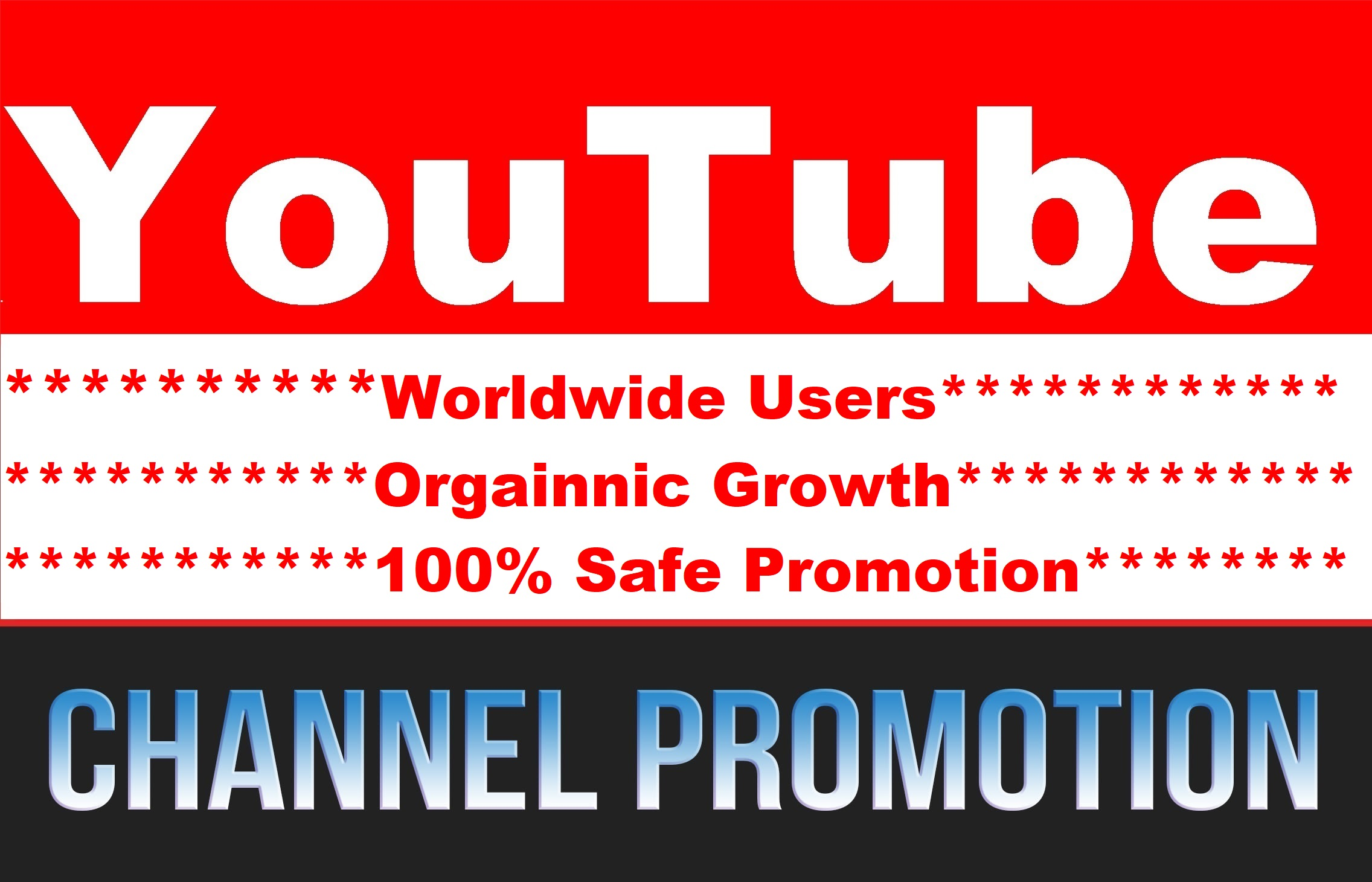 YouTube Account and Chanel Promotion High Quality Real Audience