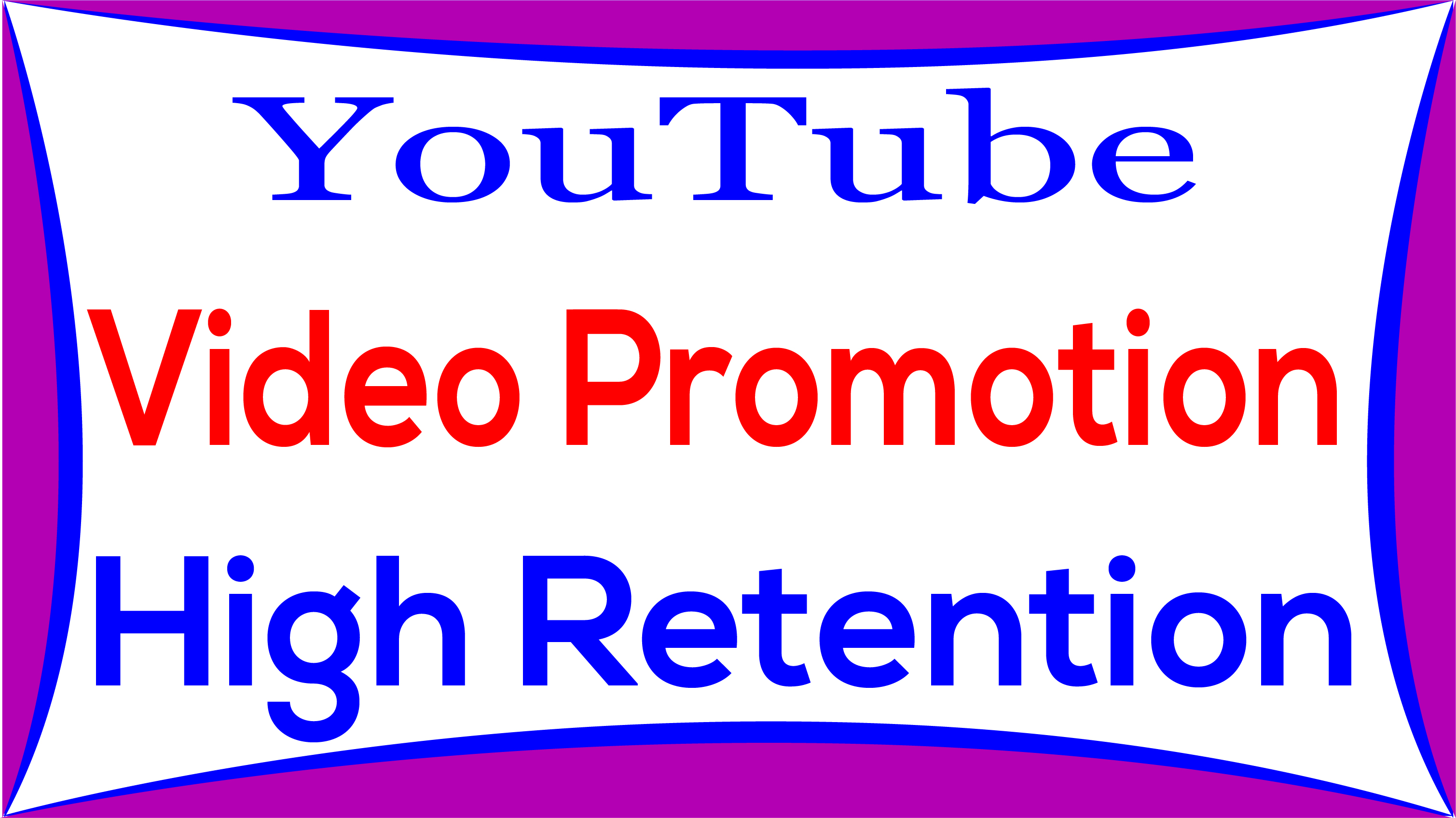 YouTube Video High Quality Promotion & Social Media Marketing