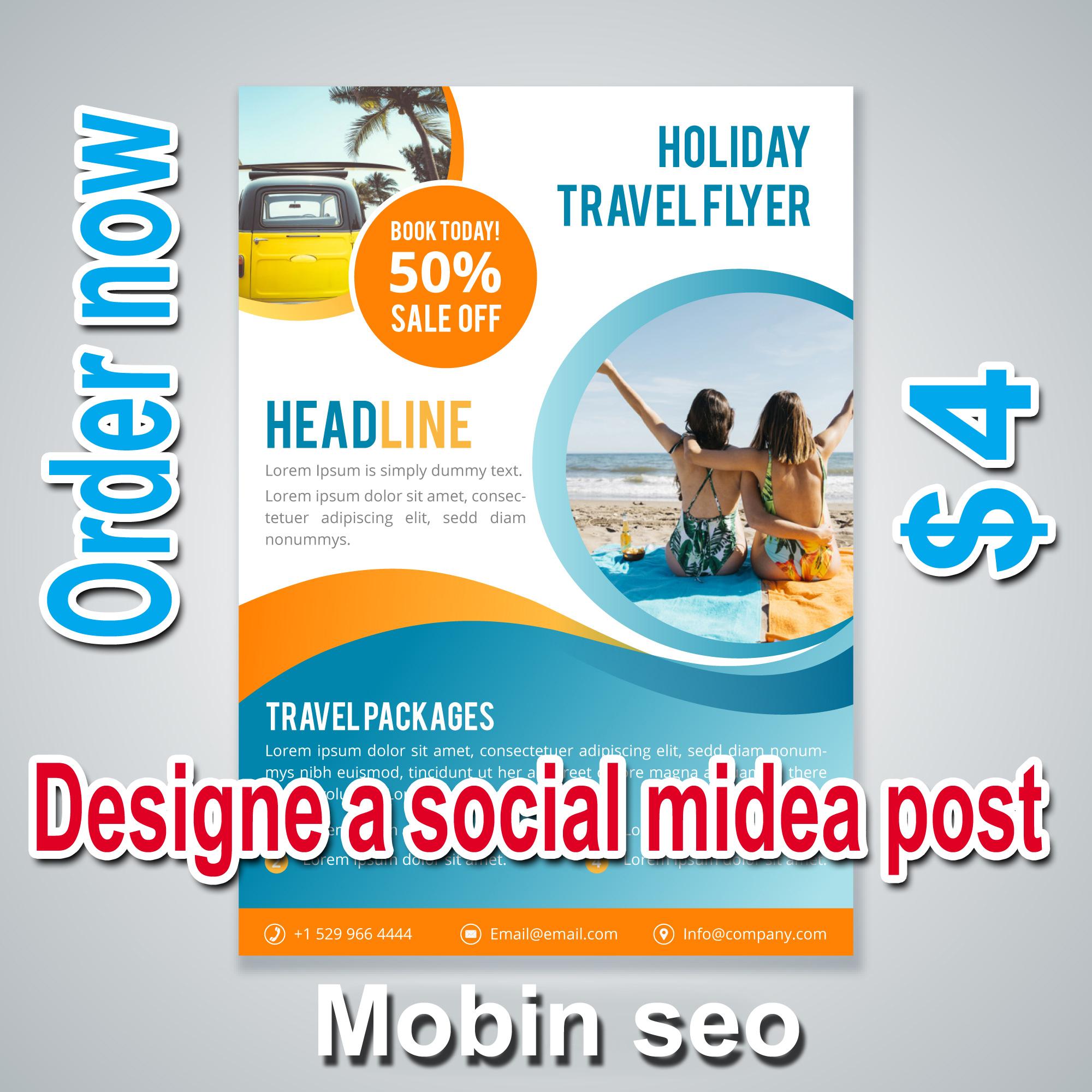 Designe high quality social midea post or flyer