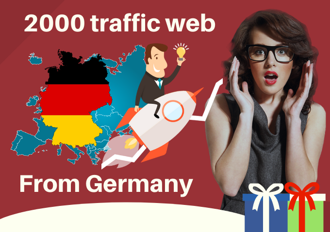2000 Human traffic to your web from Germany