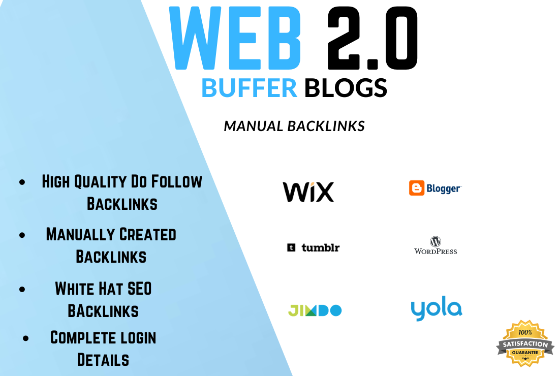 I will create 10 high authority web 2.0 backlinks
