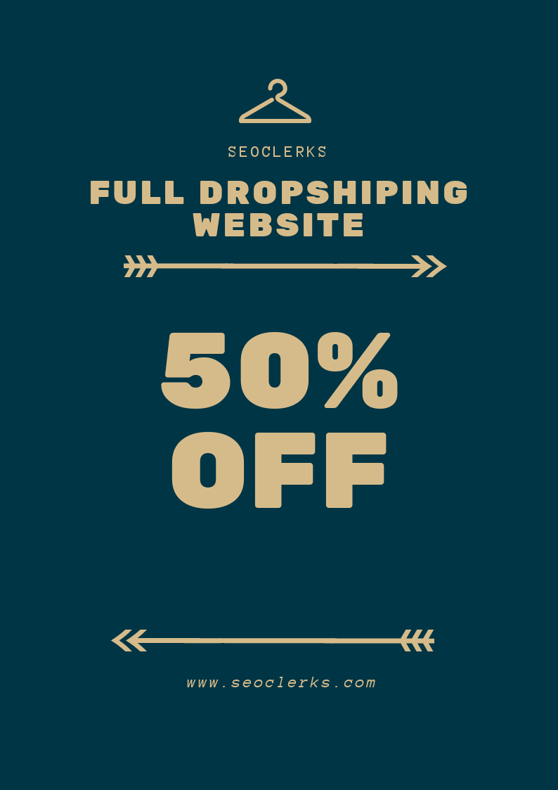 Full Dropshiping Website Create Customize and Aliexpress product import