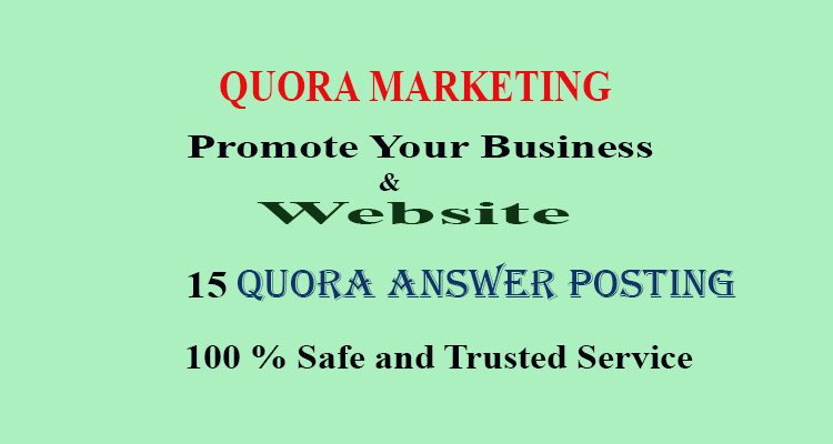 I will Promote your website in 15 HQ Quora Answers