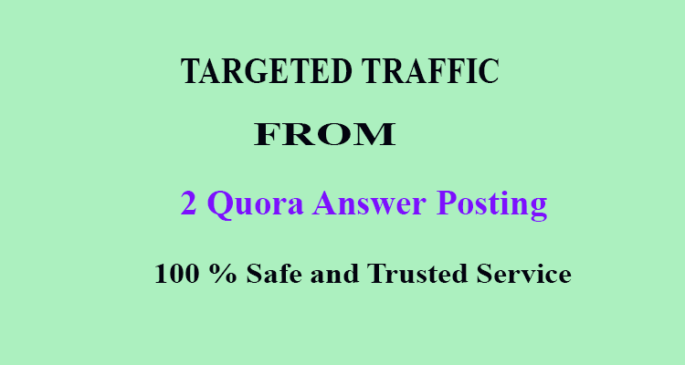 2 Powerful Quora Answers to get real organic traffic to website,  url