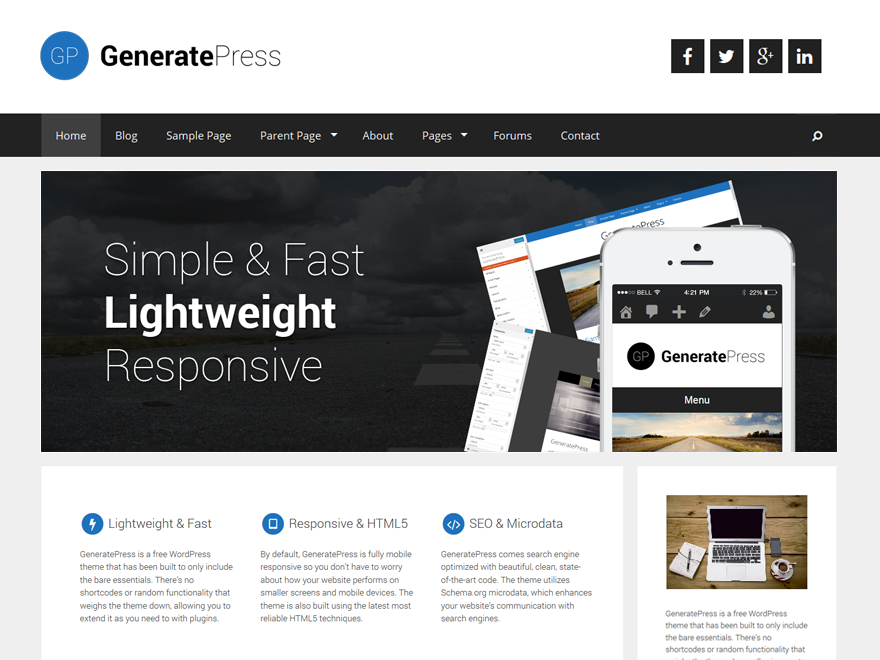 I will install thrive architect, generatepress theme, focus blog and wp rocket