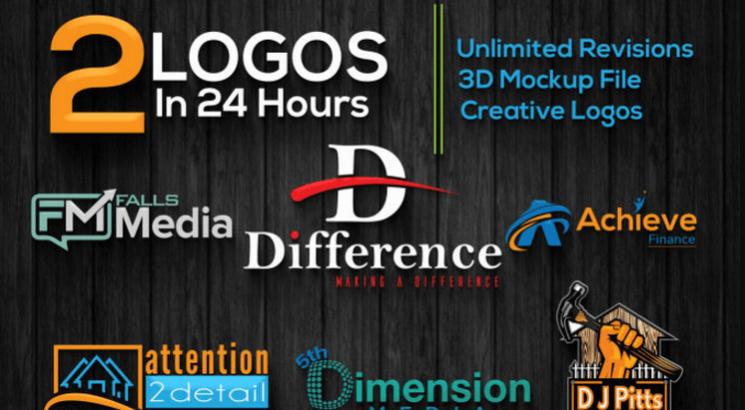 I will design creative retro vintage logo design