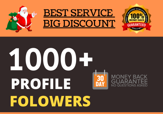 Add 1000+ High Quality Super Fast Profile Folowers