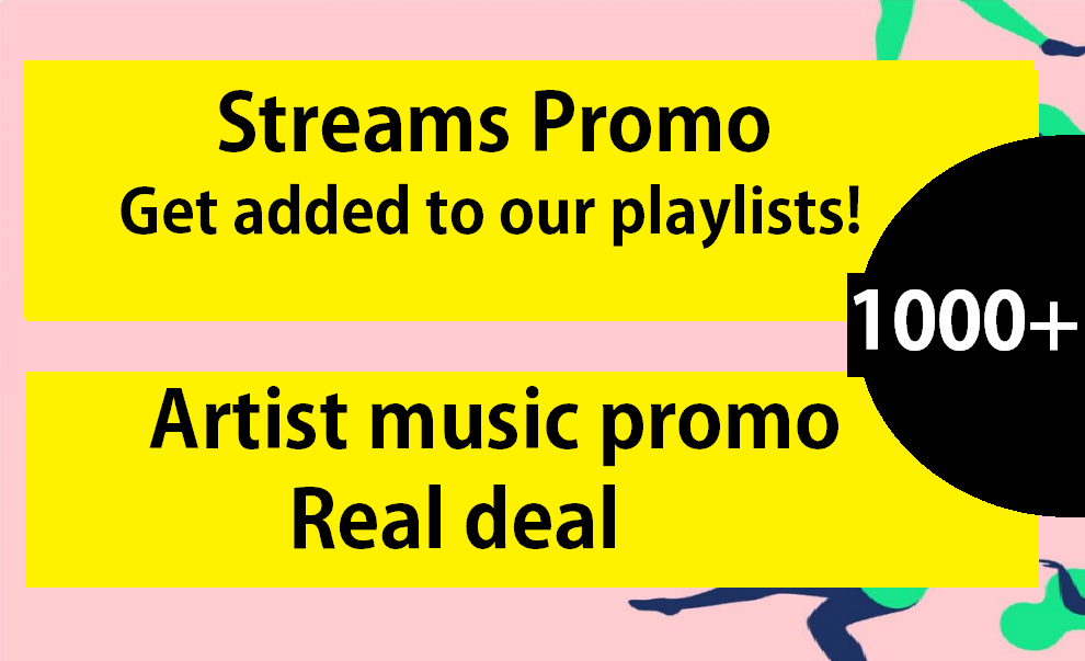 Add Your Track To Playlist to boost streams 3-7days Only
