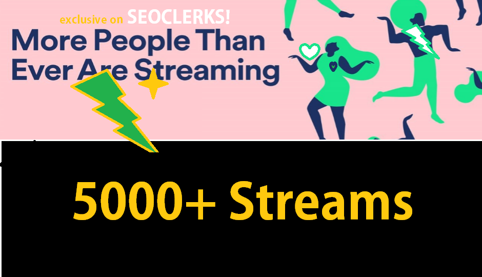 5000+ Streams For your Track streams promotion
