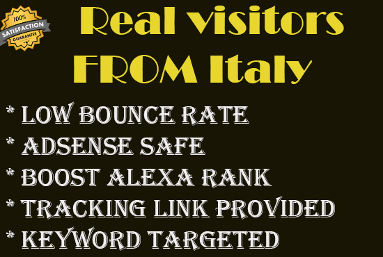 Send 5000+ real human traffic from Italy