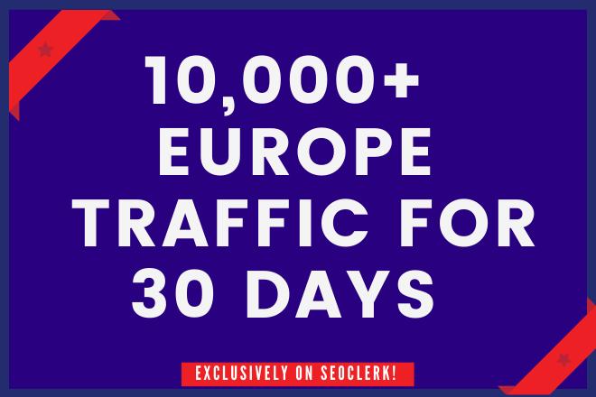 10,000+ EUROPE Website Traffic for 30 days