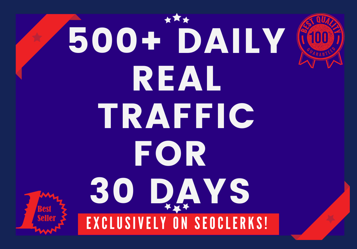 Send 500+ Daily Traffic for 30 Days from USA/UK/CANADA/FRANCE