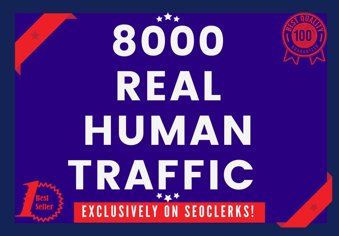 Send 8000+ low bounce rate worldwide traffic