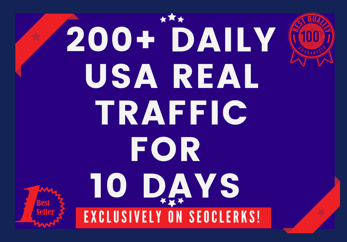 Send 200+ Daily USA Keyword Targeted Traffic For 10 Days
