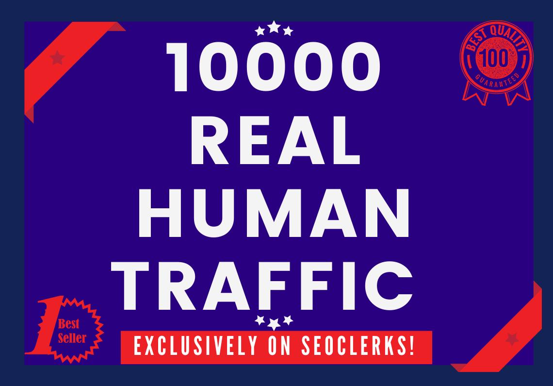Send 10000+ human traffic from Google, yahoo Etc.