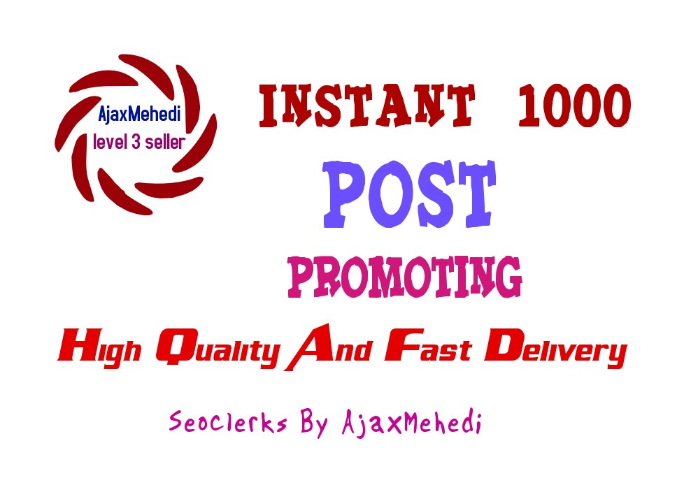 Genuine Instant Do A Photo Post Promotion
