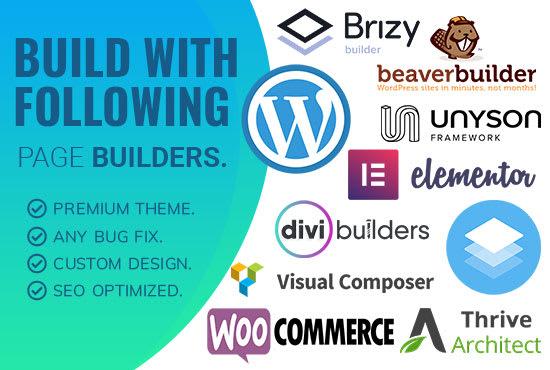 I will fix,  create,  design,  customize,  rebuild responsive wordpress website