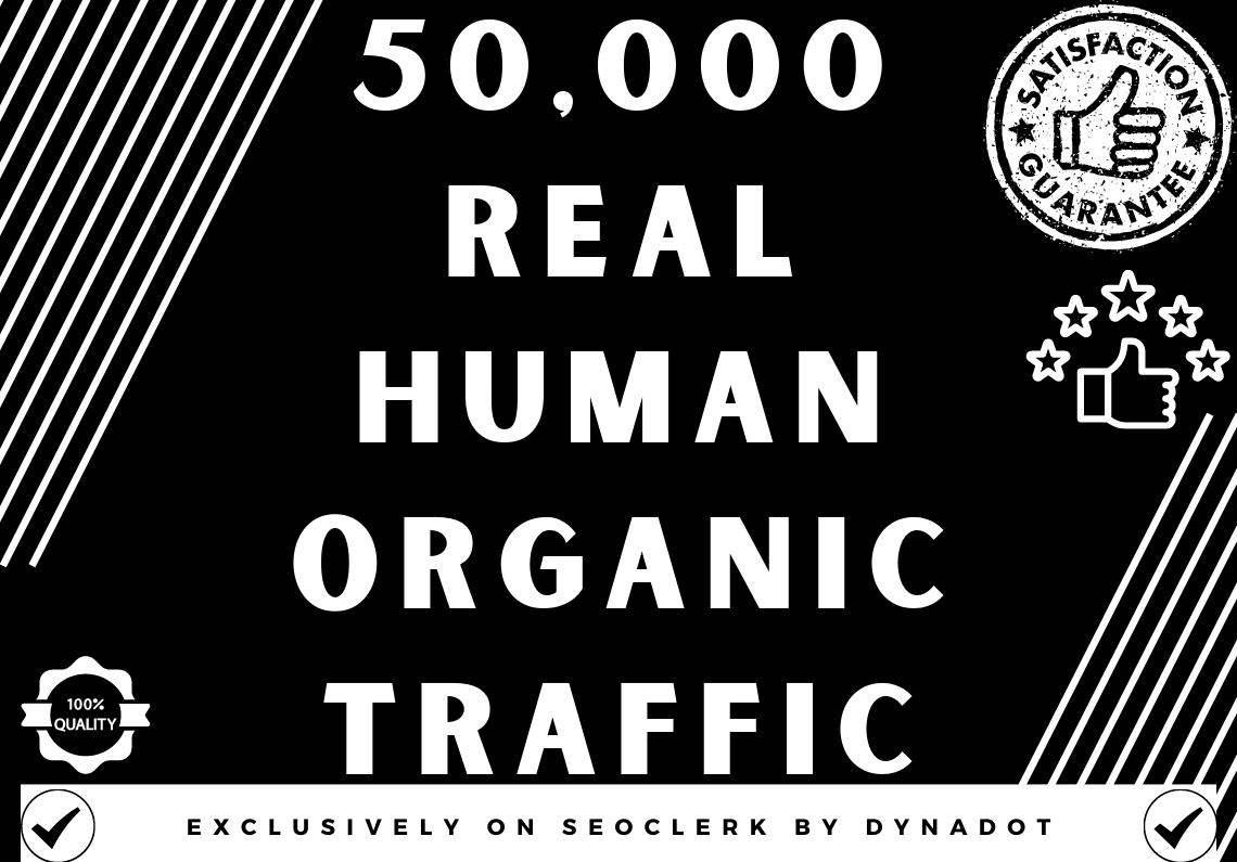 50,000+ Real human Organic traffic from Worldwide