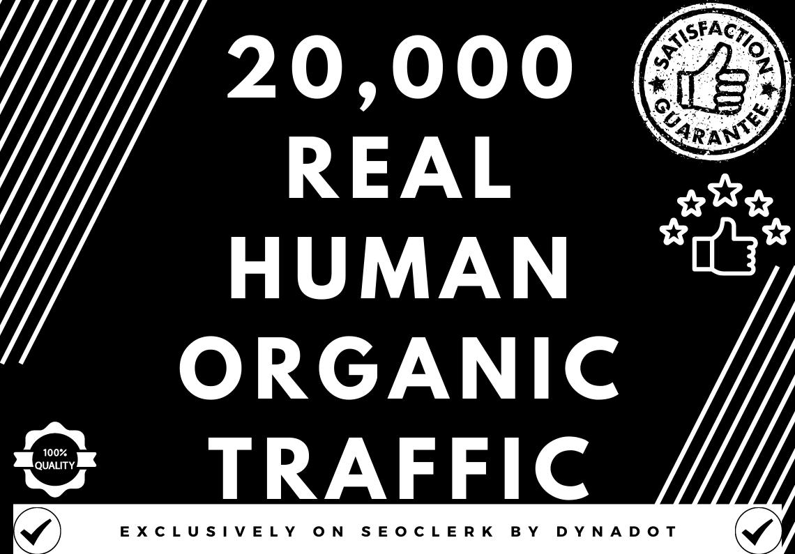 20,000+ Real human Organic traffic from Worldwide