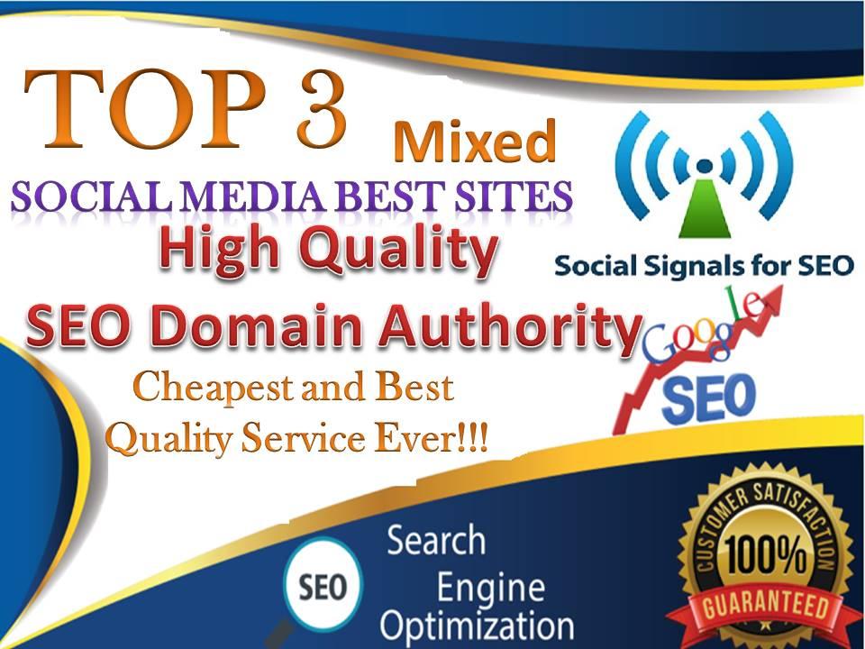TOP No3 Social Media Best Sites 12,500+ Mixed Seo Social Signals Bookmarks Google Ranking Factors