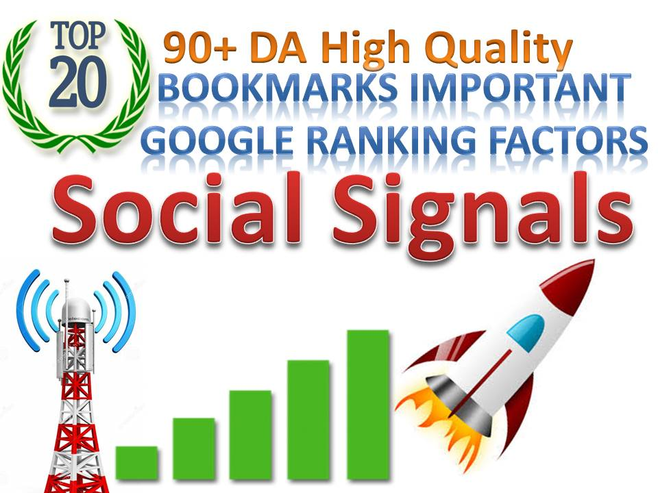 TOP 20 Sites Social Media Best Sites 20,240+ Mixed Social Signals Bookmarks Important Google Ranking