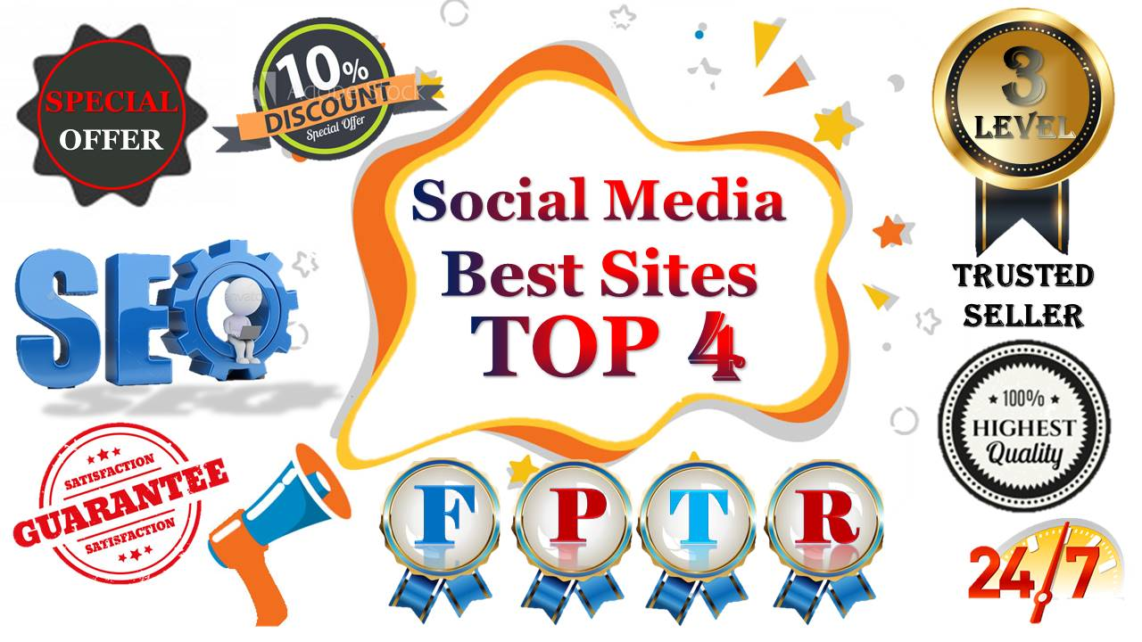 TOP 4 Social Media 10,500 Pinterest/Web share/Reddit/Tumblr Social Signals Help To Increase Website