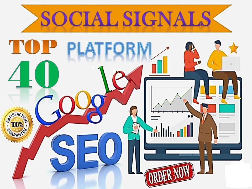TOP 40 Sites Social Media Best Sites 40,500+ Mixed Social Signals Bookmarks Important Google Ranking