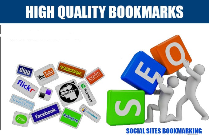 Get Create high quality top 30 bookmarks of social sites SEO backlinks