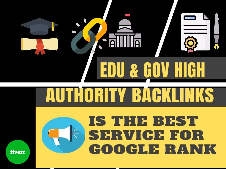 20 edu,  gov+ High DA Authority Permanent Backlinks to Boost SEO Rank