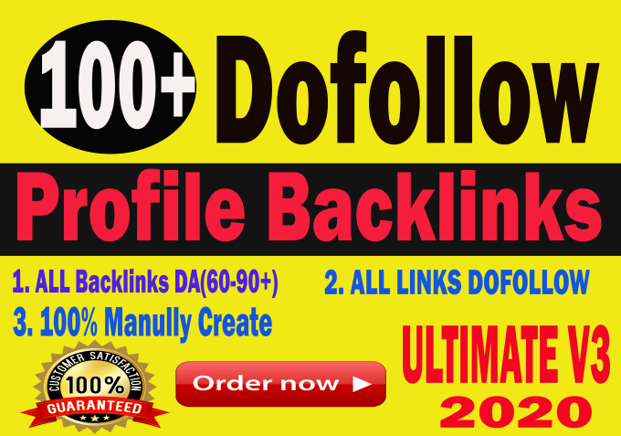 I will do 100 Da90 dofollow profile backlinks with high authority improve your website ranking