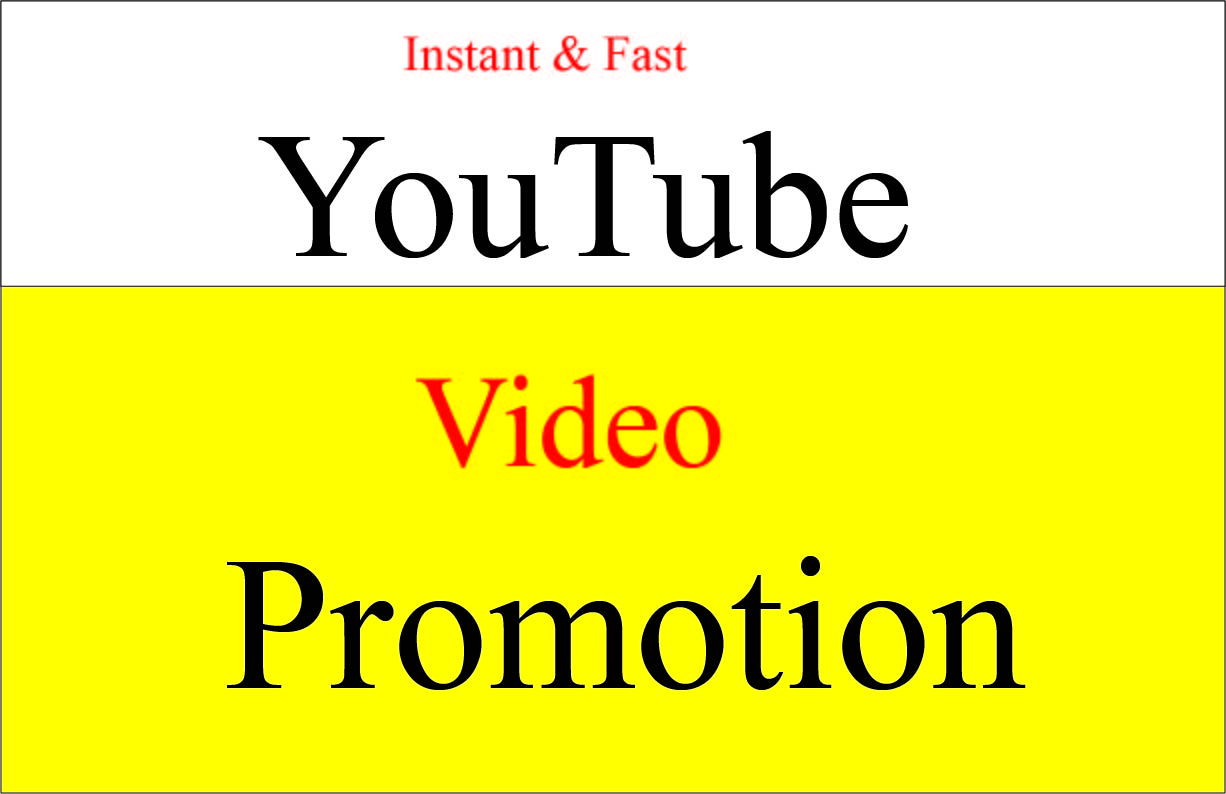 I will do fast natural organic safe YouTube video promotion & marketing