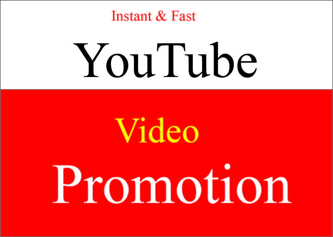 Get Fast Organic Youtube video promotion instant