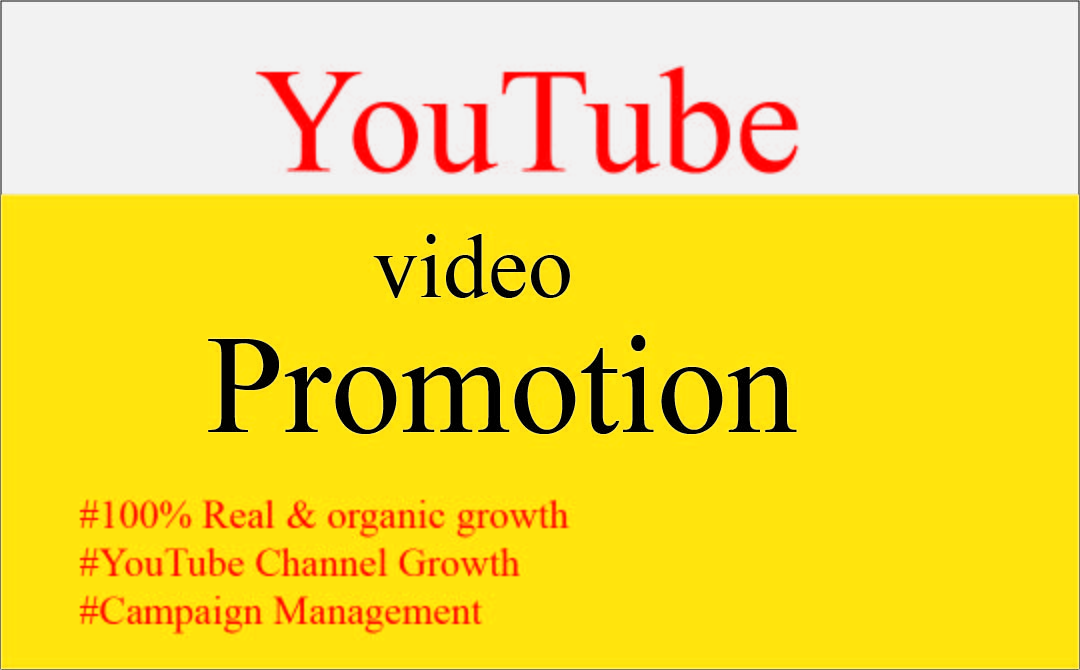 I will do super Fast organic youtube promotion